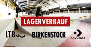 Spazio - der Lagerverkauf von Birkenstock, Converse, LTB uvm! @ Playground Skatehalle Aurich e.V. | Aurich | Niedersachsen | Deutschland