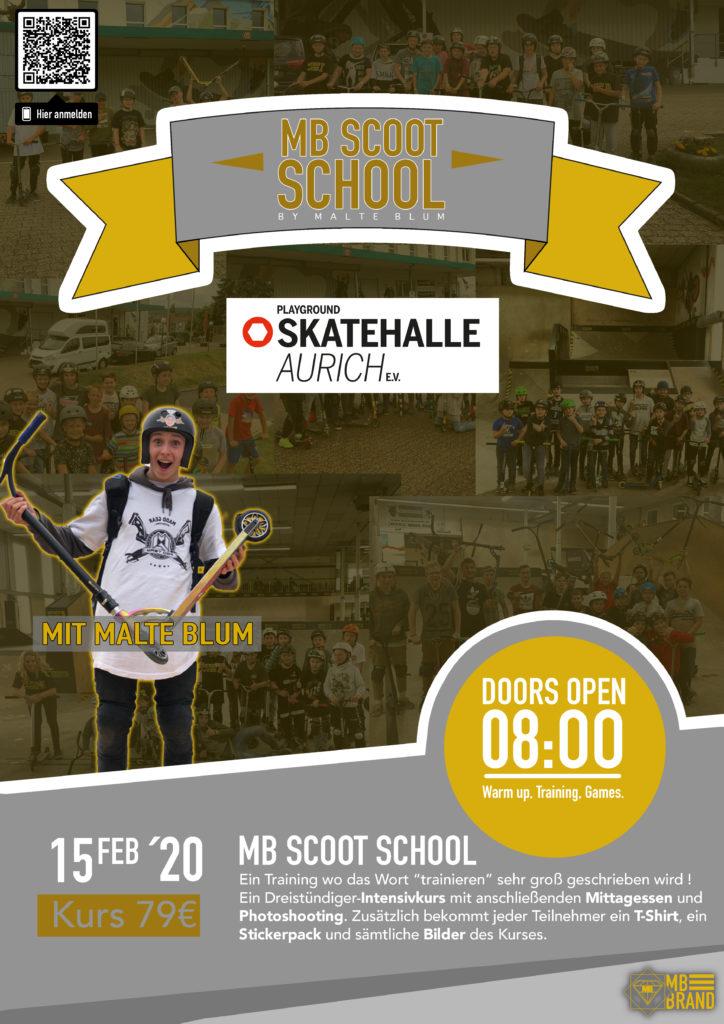 Malte Blum Scoot School @ Skatehalle Aurich | Aurich | Niedersachsen | Deutschland