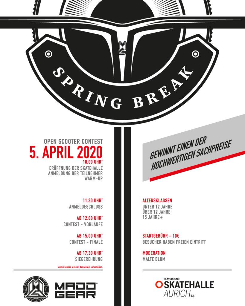 Spring Break - Madd Gear Scooter Contest @ Playground Skatehalle Aurich e.V. | Aurich | Niedersachsen | Deutschland